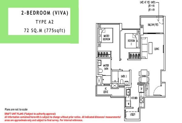 parc life ec floor plan 2br