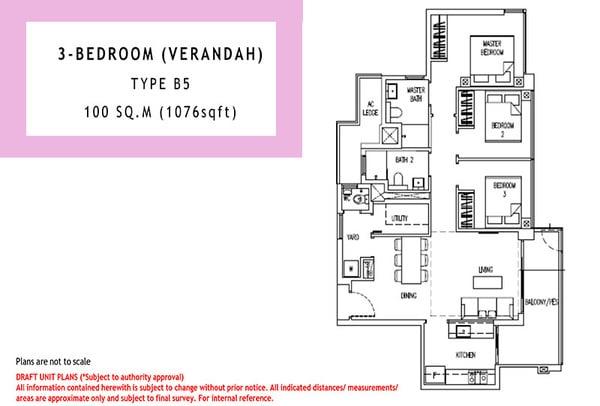 parc life ec floor plan 3br verandah
