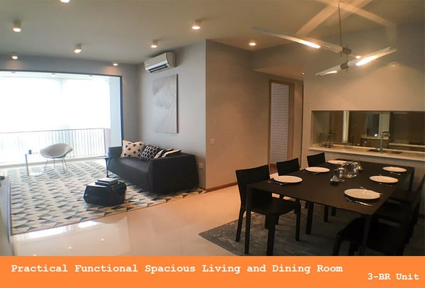 wandervale ec 3 bedroom living and dining room