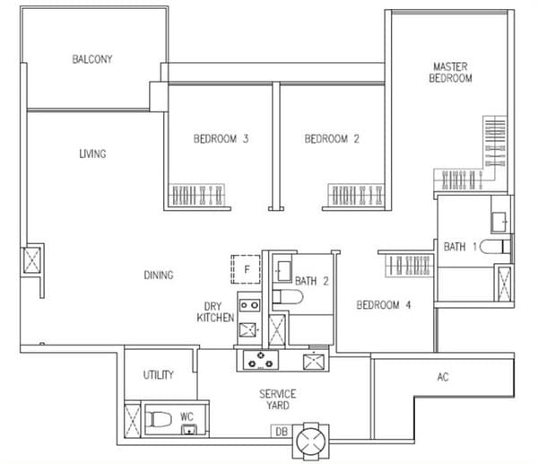wandervale ec floor plan 4-Bedroom