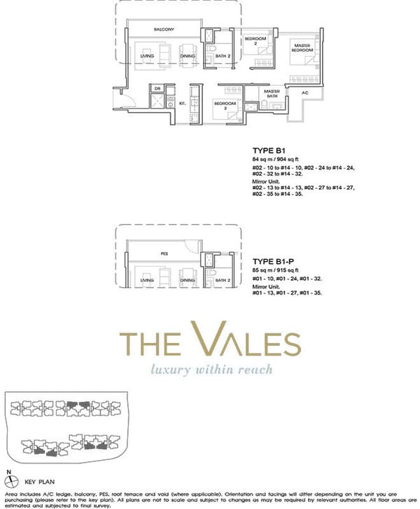 the vales ec floor plan 3BR