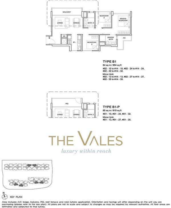 the vales ec floor plan 3BR