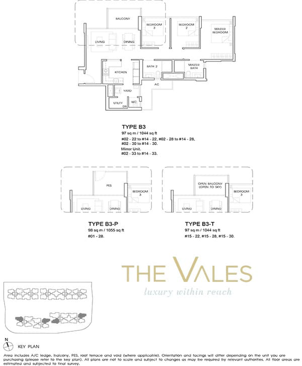 the vales ec floor plan 3BR with yard