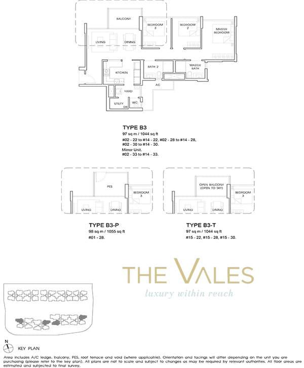 the vales ec floor plan 3BR with yard