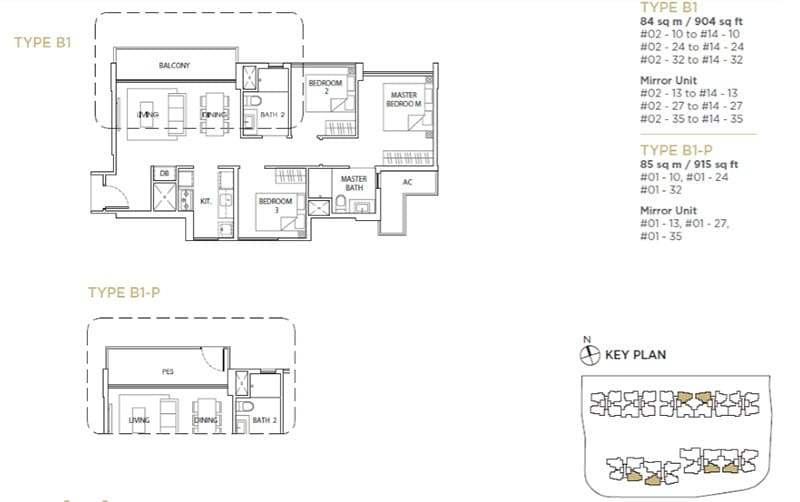 The Vales Ec Floor Plan 3brb1 The New Launch Property