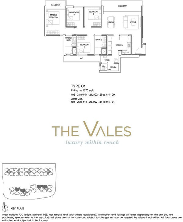 the vales ec floor plan 4br