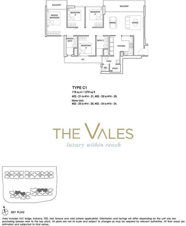 the vales ec floor plan 4br