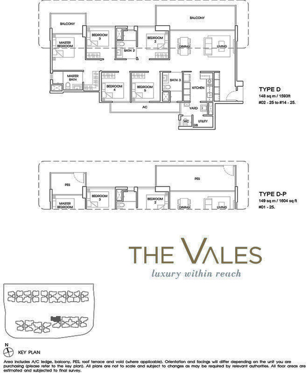 the vales ec floor plan 5br