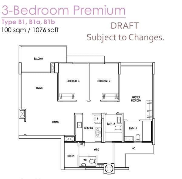 treasure crest ec floor plan b1