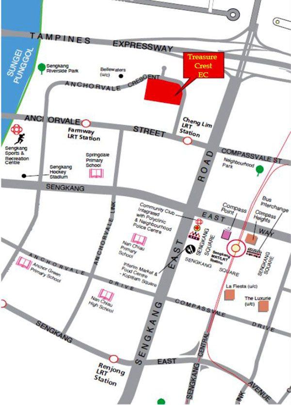 treasure crest ec location map