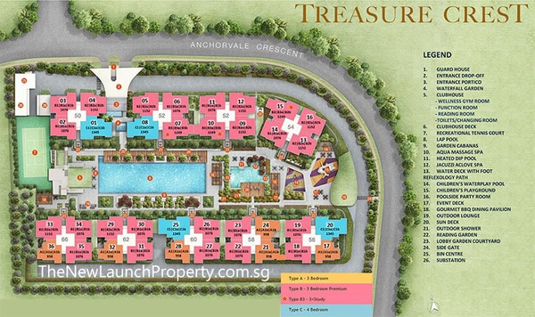 treasure crest ec site plan