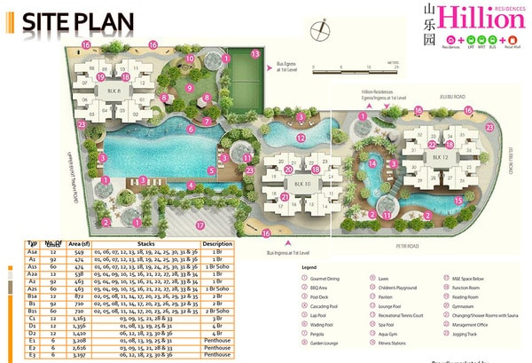 hillion residences site plan