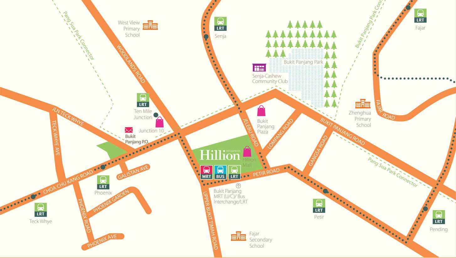 hillion residences location map