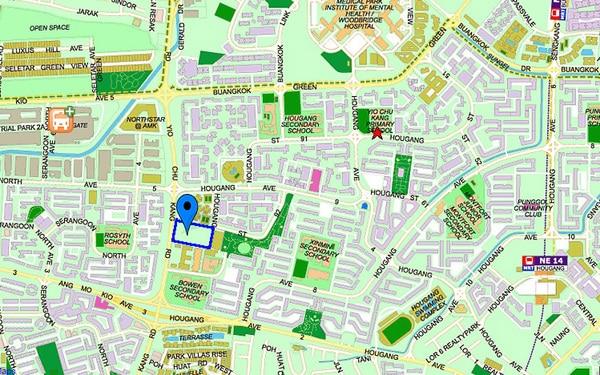 hundred palms residences location map