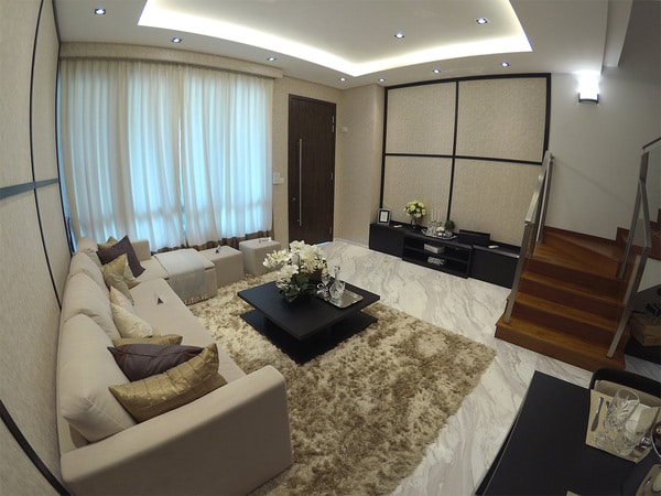 the morris residences living area