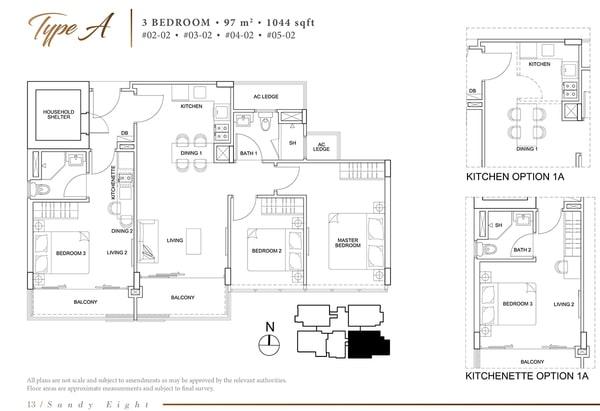 sandy eight condo floor plan a