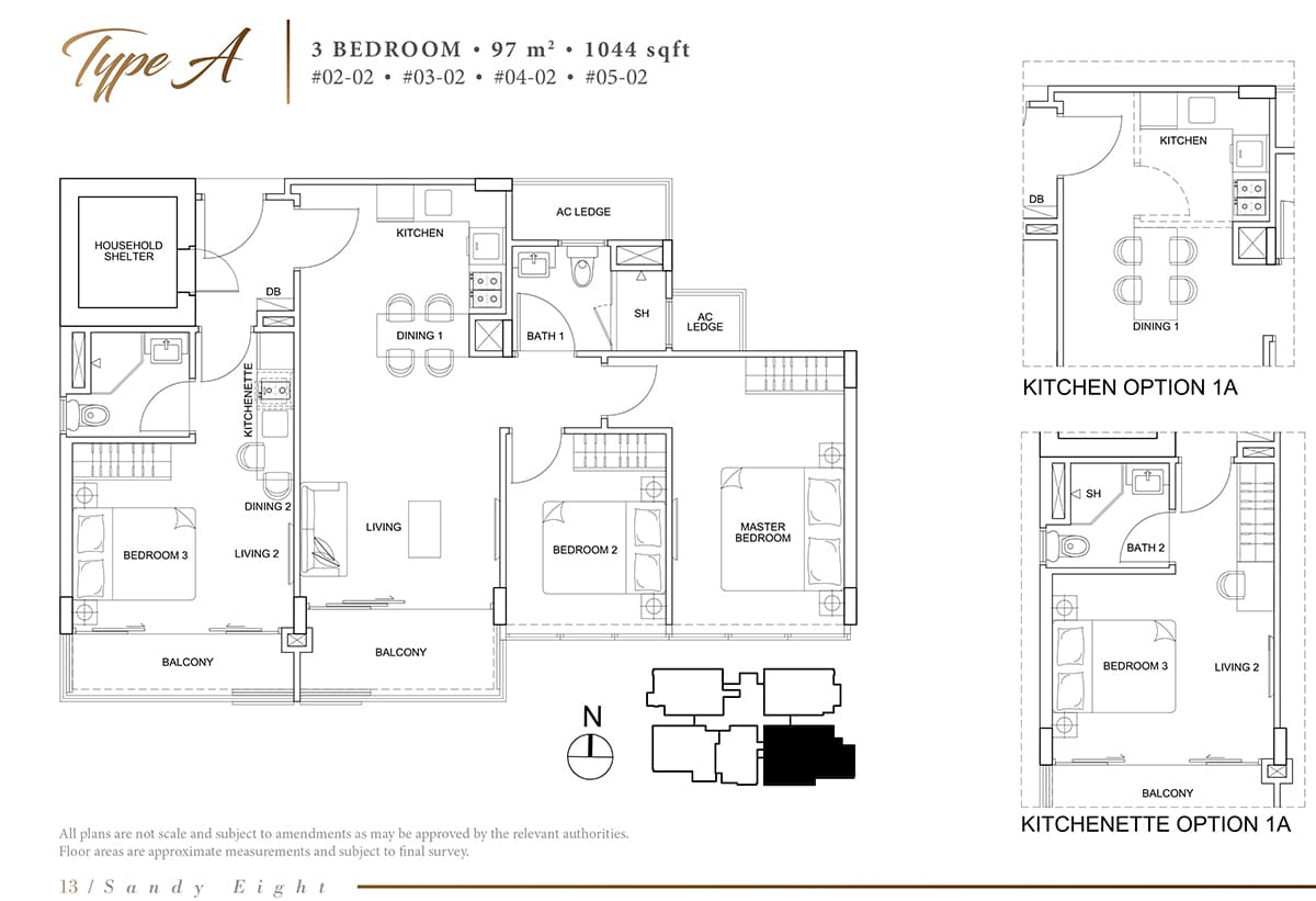 sandy eight condo floor plan a
