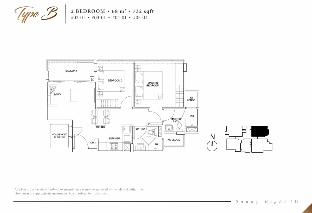 sandy eight condo floor plan b