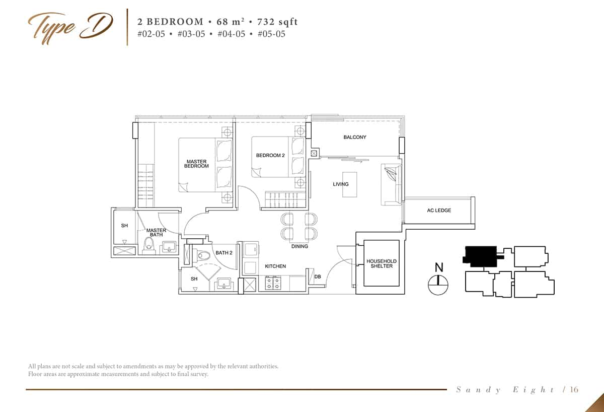 Sandy Eight Condo Floor Plan D
