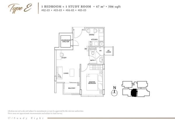 sandy eight condo floor plan e