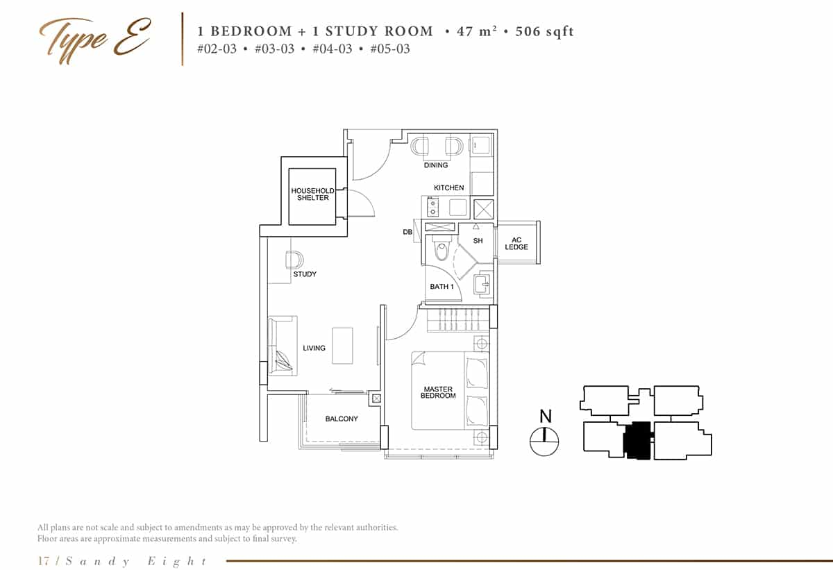 sandy eight condo floor plan e