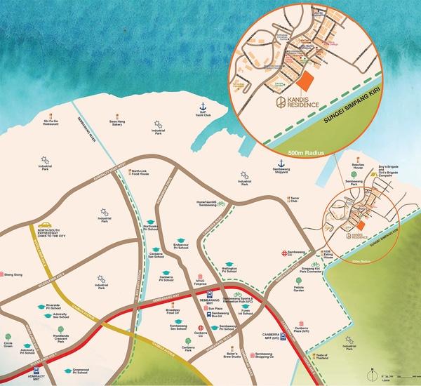 kandis Residence Location Map