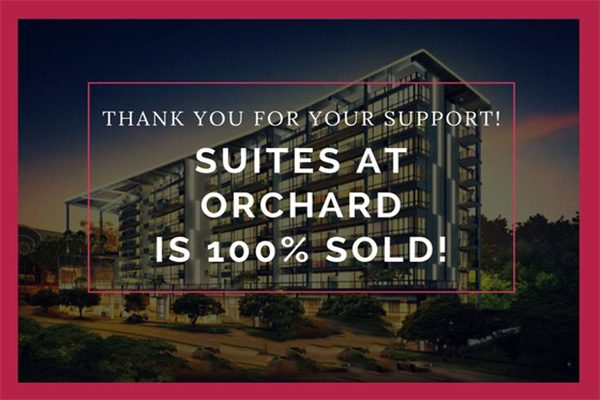 Suites at Orchard all sold
