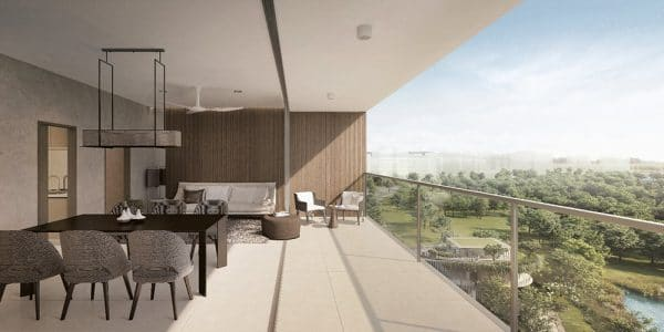 THE WOODLEIGH RESIDENCES BALCONY VIEW