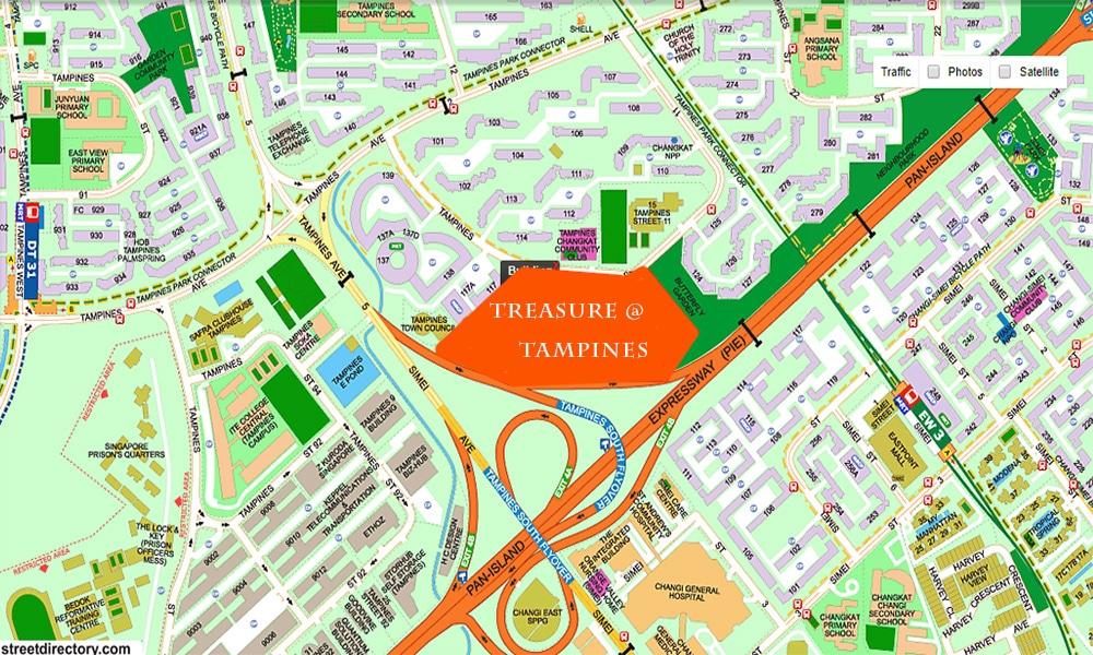 Treasure at Tampines Location Map