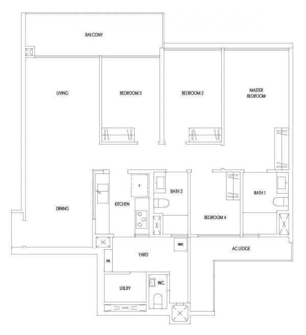 treasure tampines floor plan type d9p