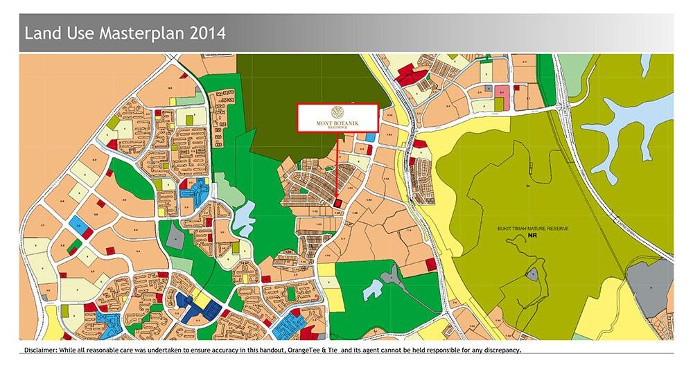 Mont Botanik Residence Location Plan