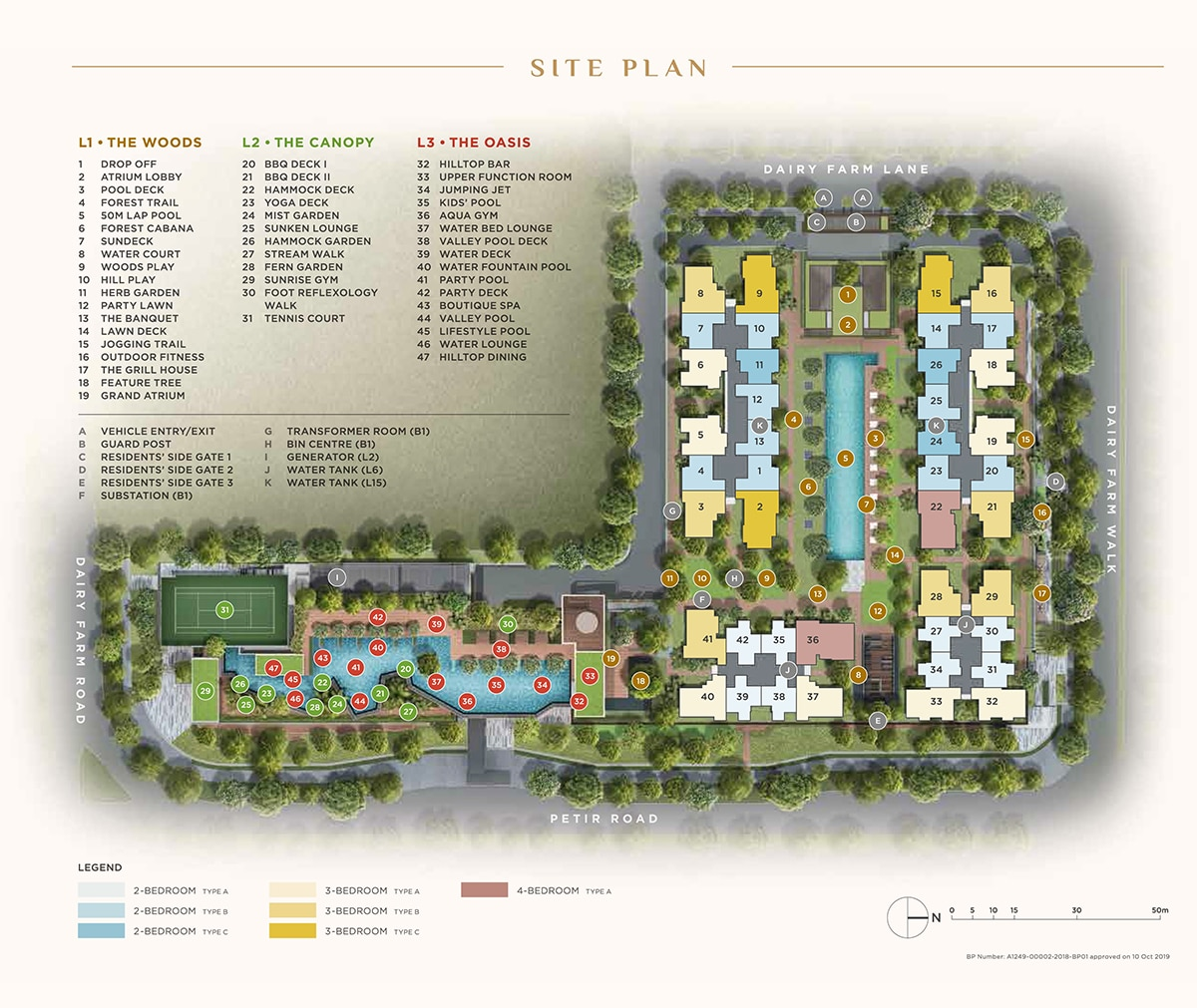 Dairy Farm Reidences Site Plan