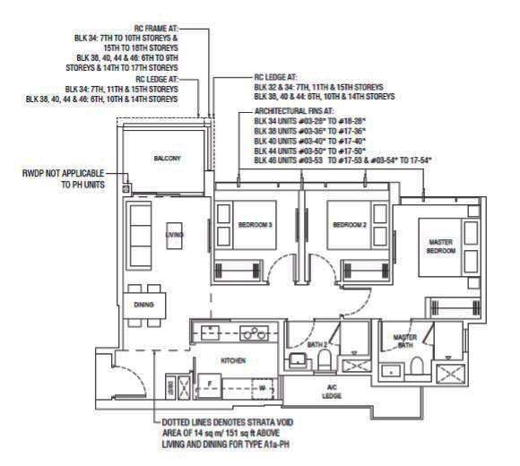 Piermont Grand Ec 3 Bedroom Type A1 Floor Plan The New Launch Property