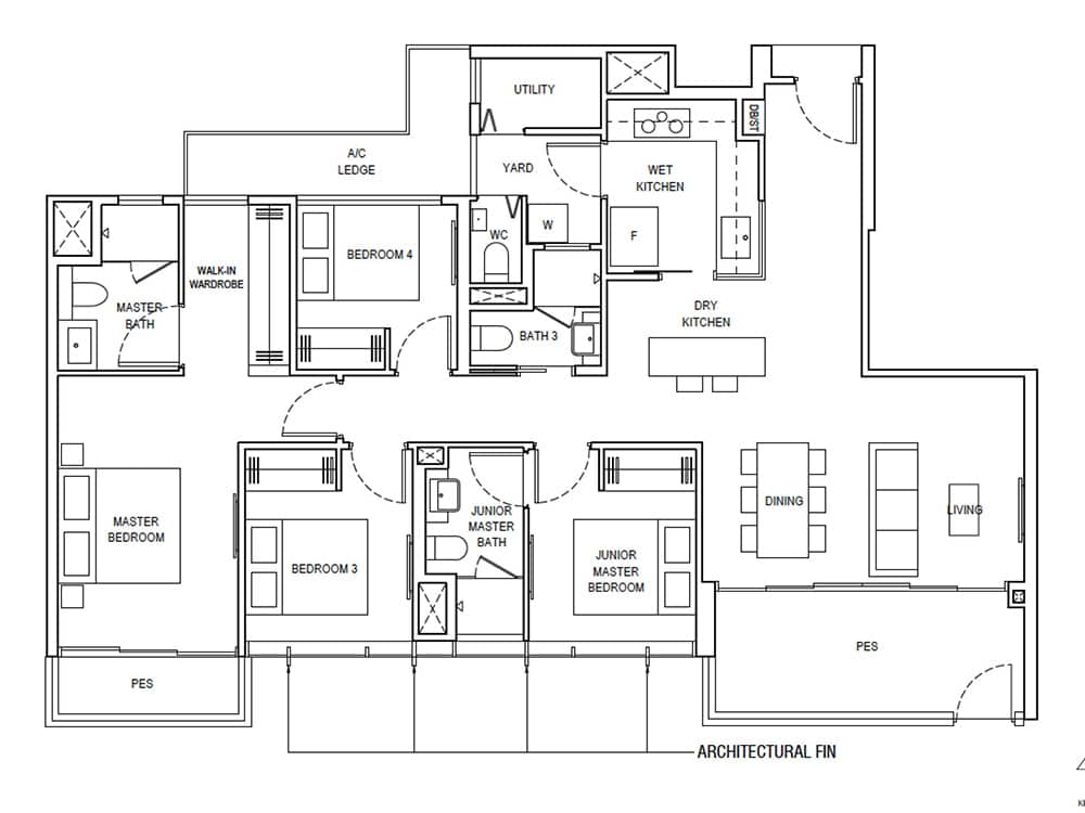 piermont grand 4 bedroom premium floor plan