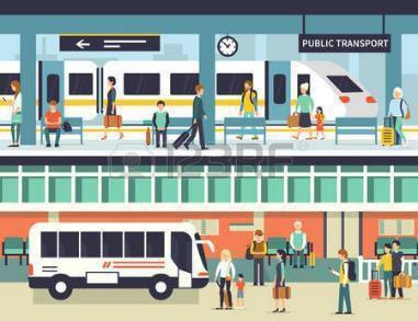 transport node and public spaces
