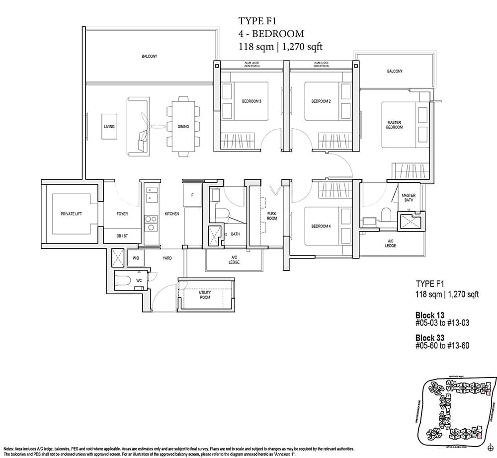 4-bedroom floor plan