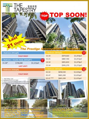 The Tapestry Last Few Units for Grab