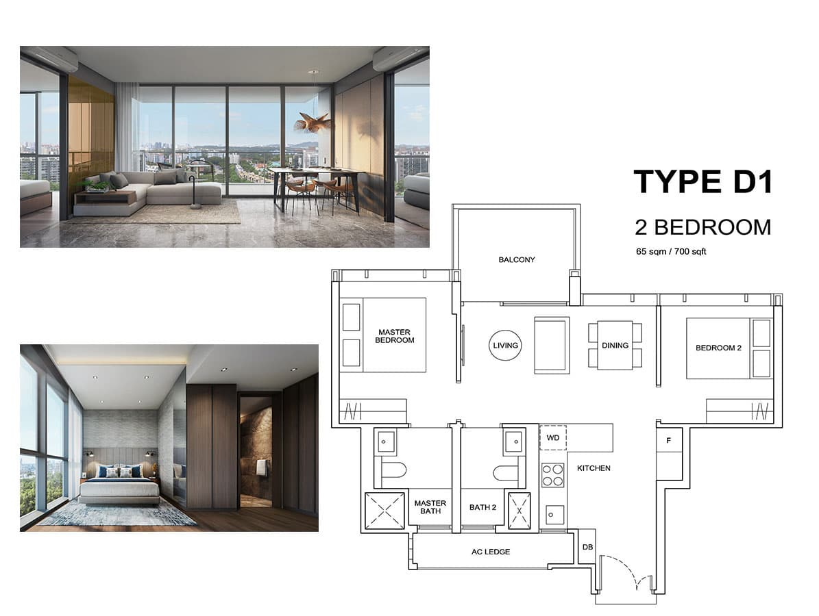 hyll on holland 2 bedroom floor plan