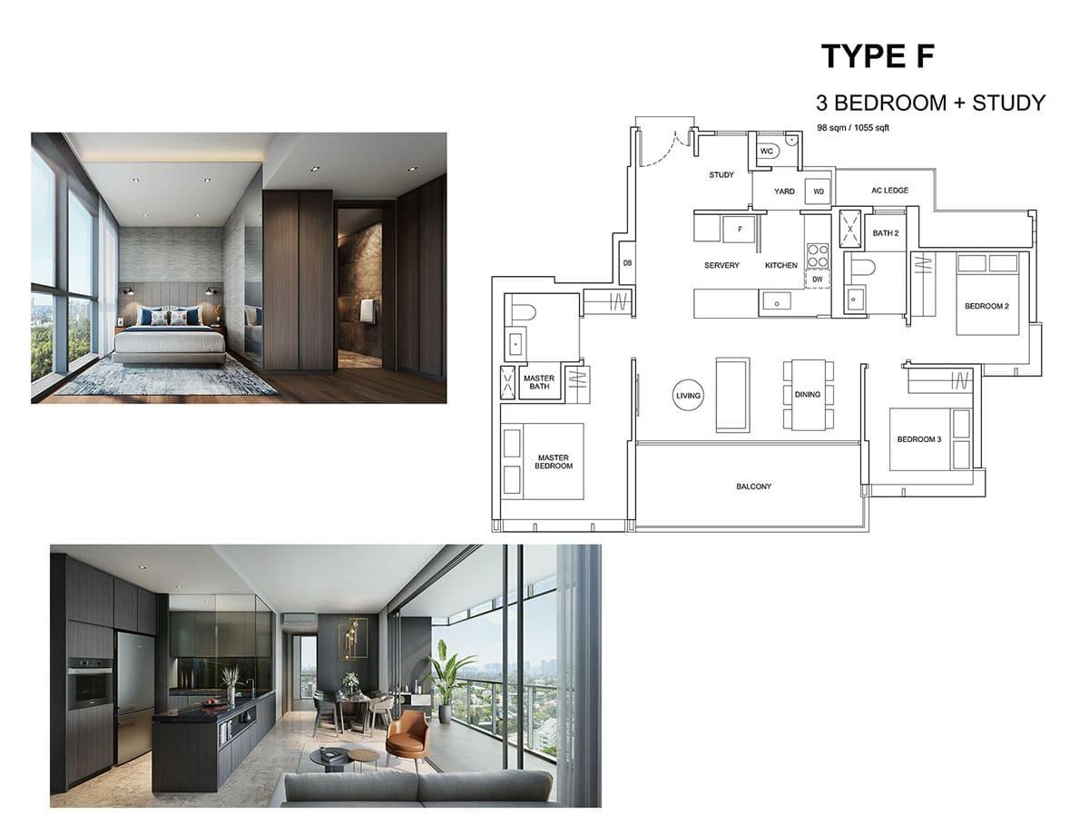 Hyll on holland 3 bedroon floor plan