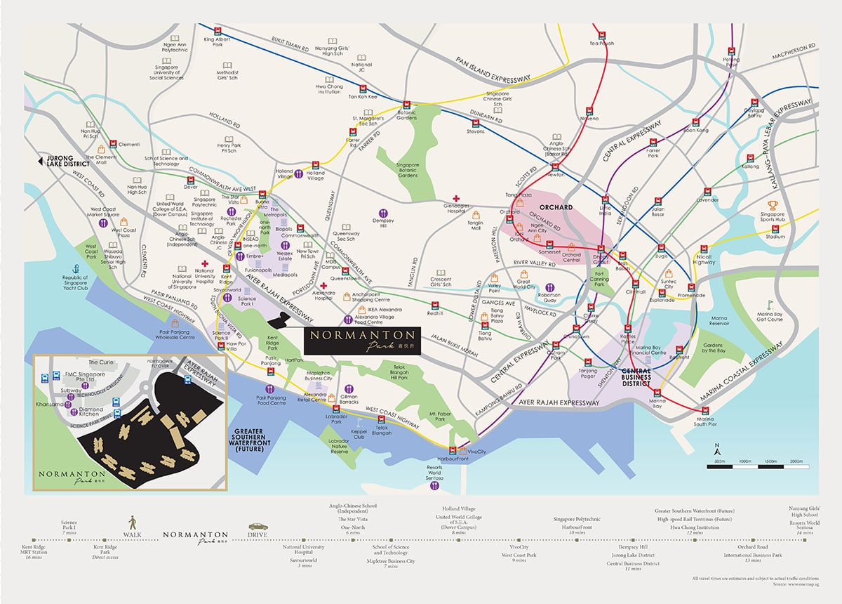 Normanton Park Location Map