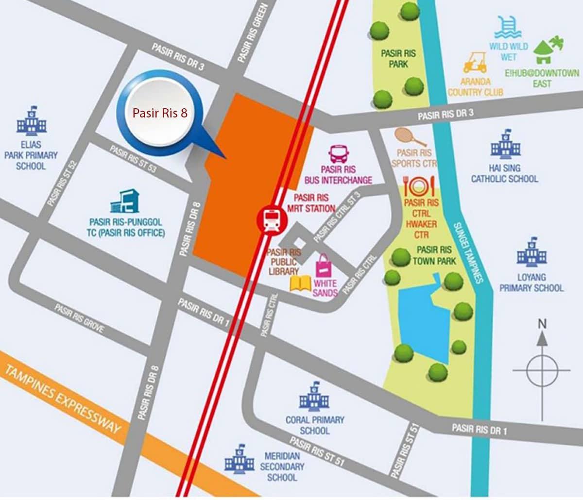 Pasir Ris 8 Location Map