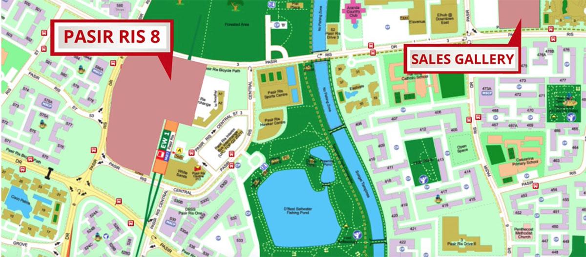 Pasir Ris 8 Show Flat Location